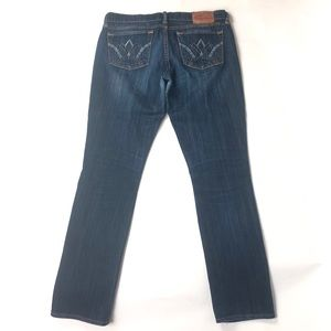 Lucky Brand Women's Zoe Straight Blue Jeans 1085